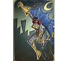 Batgirl, bat girl, bat woman, batwoman, Art, Poster, Superhero, Comic Book, Comics,  comic books, batman, bat man, joe badon Photographic Print