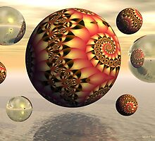 Fractal Reflections by Sandra Bauser Digital Art