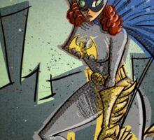 Batgirl, bat girl, bat woman, batwoman, Art, Poster, Superhero, Comic Book, Comics,  comic books, batman, bat man, joe badon Sticker
