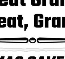 Let's Eat Grandma Commas Save Lives Sticker