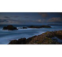 veiw to rathlin from Ballintoy Photographic Print
