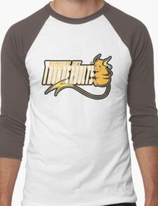 Vermilion City Thunderbolts: Raichu Sports Logo Men's Baseball ¾ T-Shirt