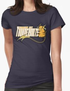 Vermilion City Thunderbolts: Raichu Sports Logo Womens Fitted T-Shirt