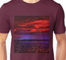 Sunset over Punta Gorda bridge Unisex T-Shirt