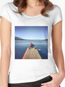 Serenity in Tahoe Women's Fitted Scoop T-Shirt