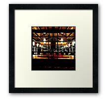 UC Davis Coffee House at Night Framed Print