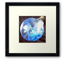 Broken Light Bulb Framed Print