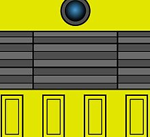 Not a robot. Yellow. Inspired by Daleks. by Lenka24