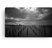 Closed Due To Weather Canvas Print