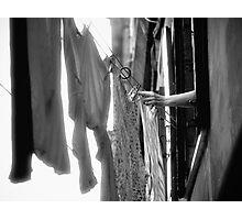 Hanging Laundry - Italy Photographic Print