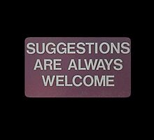 Suggestions by goodbadoriginal