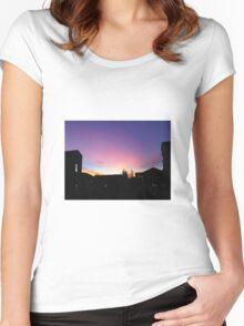 Davis Sunset Women's Fitted Scoop T-Shirt