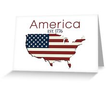 America Est. 1776 - Flag Greeting Card