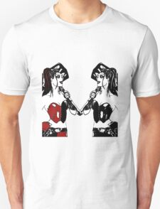 Double the trouble, twice the fun! - Harley Quinn T-Shirt