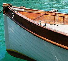 Wooden boat at Rest by Ralph Angelillo