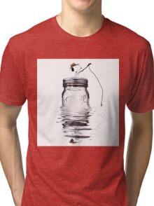Snoopy fishing Tri-blend T-Shirt