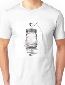 Snoopy fishing Unisex T-Shirt