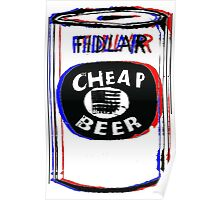 FIDLAR- Cheap Beer Poster