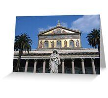 St. Paul's Facade Greeting Card