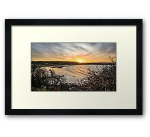 Browns Bay Sunset Framed Print