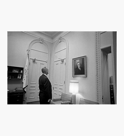 LBJ Looking At FDR Photographic Print