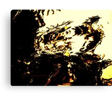 Monster Yelling At TV Canvas Print