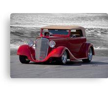1934 Chevrolet Phaeton ' On the Beach' Canvas Print