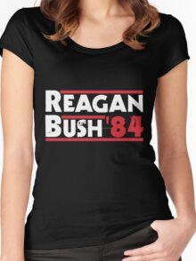 Reagan Bush '84 Women's Fitted Scoop T-Shirt