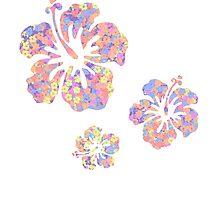 Hawaiian flower pattern 2 by Liz-Marteau