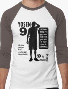 Murasakibara Atsushi Quotes Men's Baseball ¾ T-Shirt