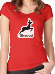 Libreboot Logo  Women's Fitted Scoop T-Shirt