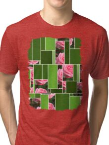 Pink Roses in Anzures 2 Art Rectangles 12 Tri-blend T-Shirt