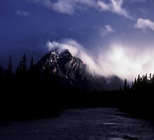 Late in the day, Jasper National Park, Canada, 1987 by jackmbernstein