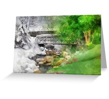 Winter Melt to Spring Greeting Card
