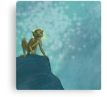 Don't touch my precious, blonde hair! Canvas Print