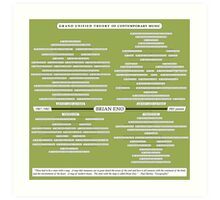 Enography - The Grand Unified Theory of Contemporary Music Art Print