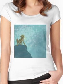 Don't touch my precious, blonde hair! Women's Fitted Scoop T-Shirt