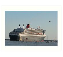 Queen Mary 2 departing SA Art Print