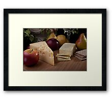 Wine and Cheeses Framed Print