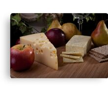 Wine and Cheeses Canvas Print