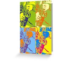 Four Saxes Greeting Card