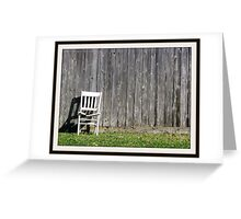 brokedown chair Greeting Card