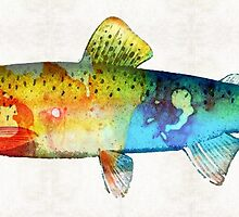 Rainbow Trout Art by Sharon Cummings by Sharon Cummings