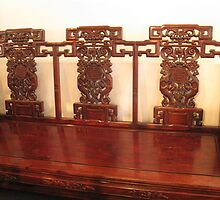 Antique Chinese Seat by Heather Friedman