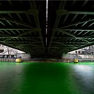 Chi-rish Green Under the Michigan Ave. Bridge by Adam Bykowski