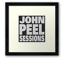 Peel Sessions Infographic Framed Print