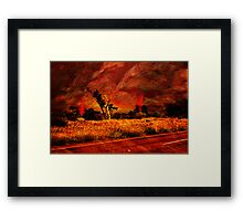 """The Firestorm-Wild Fires In The Bush"" Framed Print"