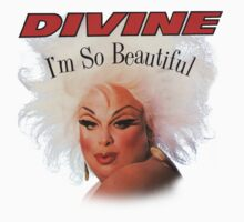 divine im so beautiful john waters Kids Tee