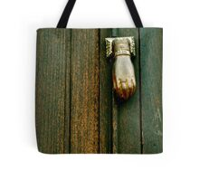 The Hand that Knocks Tote Bag
