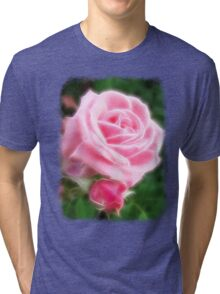 Pink Roses in Anzures 2 Angelic Tri-blend T-Shirt